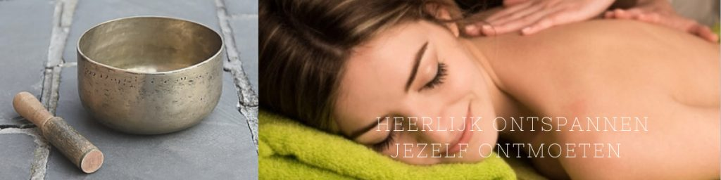 Header bij de pagina Massage